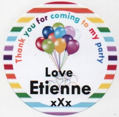rainbow balloons design thank you for coming to party love