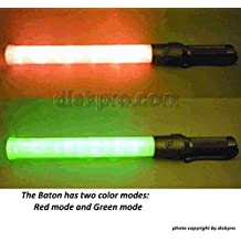 One (1) piece of 21.5 inch Traffic LED Baton Light, in 6 Red LED with 6 Green LED, 3 flashing modes (Red blinking, Red steady-glow, Green steady-glow), uses 2 D-size battery (not included)