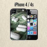 iPhone Case Money and Pills for iPhone 4 / 4s Black 2 in 1 Heavy Duty (Ships from CA)