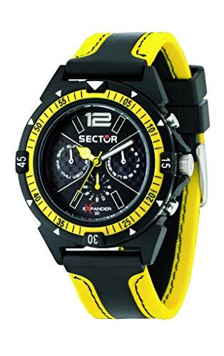 Sector Men's R3251197022 Expander90 Multi-Function Black/Yel