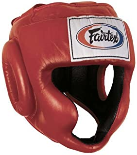 Fairtex Full Coverage Headgear, Red, X-Large by Ringside