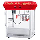 Great Northern Popcorn Company 6131 All Star GNP-450 Red Top Classic Popper Machine, 4 oz, Red