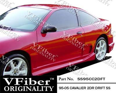 1995-2005 Chevrolet Cavalier 2dr Body Kit Drift Side Skirt (Drift Vfiber)