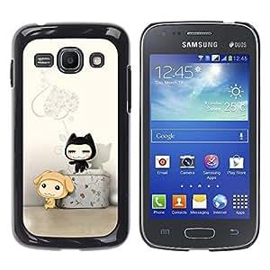 Paccase / SLIM PC / Aliminium Casa Carcasa Funda Case Cover - Cute Cat Friends - Samsung Galaxy Ace 3 GT-S7270 GT-S7275 GT-S7272