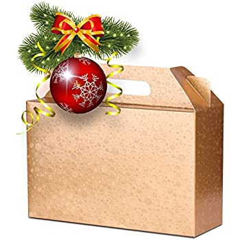 Amazon.com: Christmas Gift Boxes; Glitter accents, 1 Large box ...
