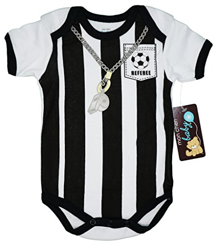Mon Cheri Baby Soccer Referee Funny Baby Boy Girl Unisex One Piece Infant Funny Dress Up Bodysuits(0-3)