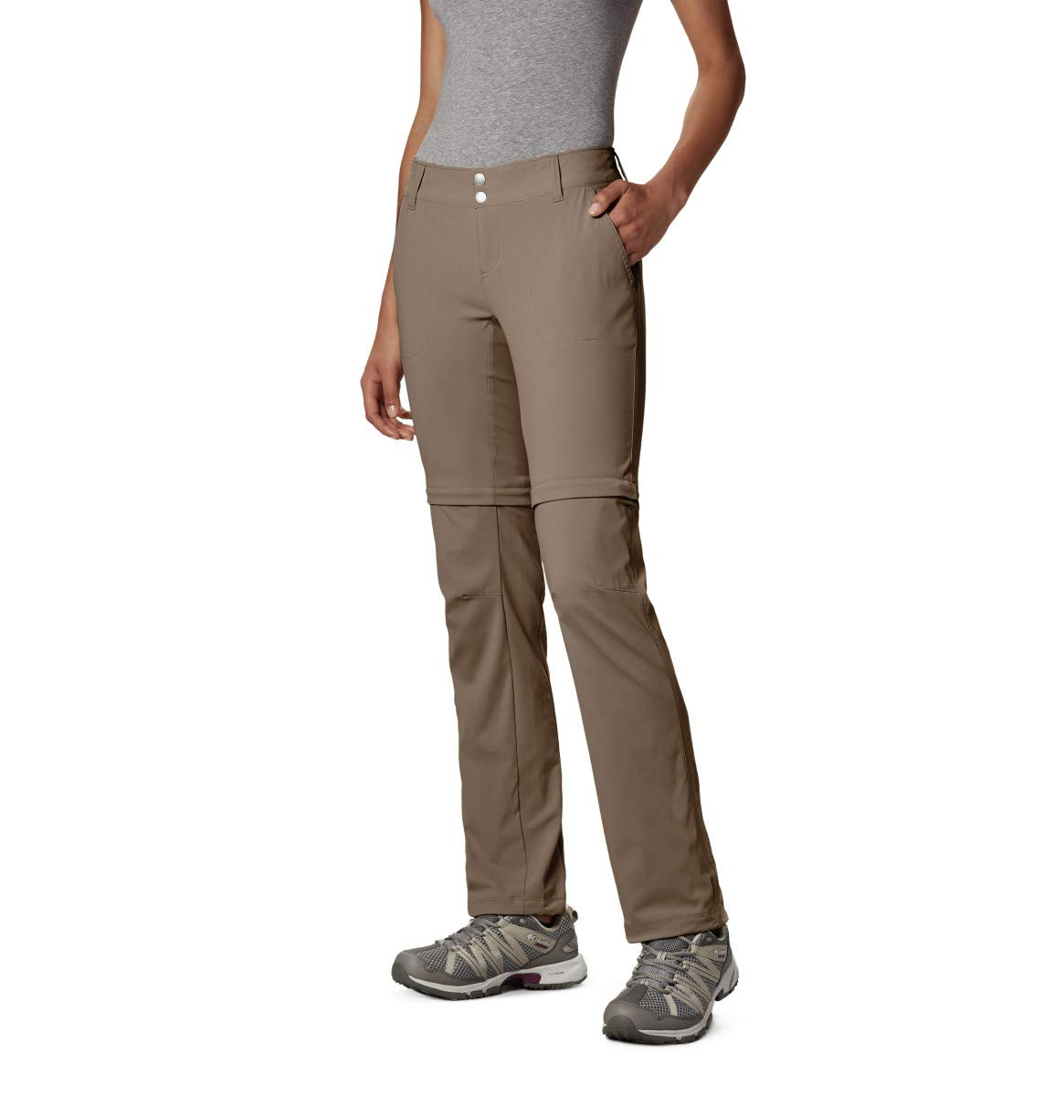 Columbia Women's Saturday Trail II Convertible Pant,Truffle,4 Long by Columbia