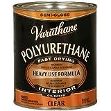 Rust-Oleum Varathane 6041H 1-Quart Interior Oil Polyurethane, Semi-Gloss Finish