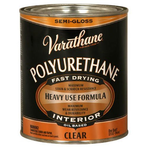 - Rust-Oleum Varathane 6041H 1-Quart Interior Oil Polyurethane, Semi-Gloss Finish
