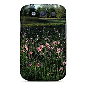 Tpu Fashionable Design Dainty Wildflowers Rugged Case Cover For Galaxy S3 New