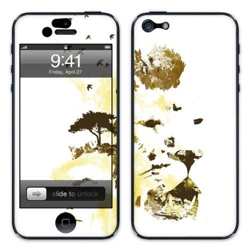 Diabloskinz B0081-0005-0001 Vinyl Skin für Apple iPhone 5/5S Africa