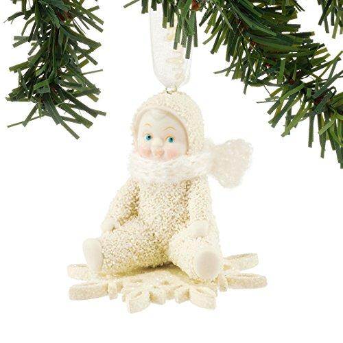 "Department 56 Snowbabies ""Drifting On A Snowflake"" Porcelain Ornament, 2.24"""