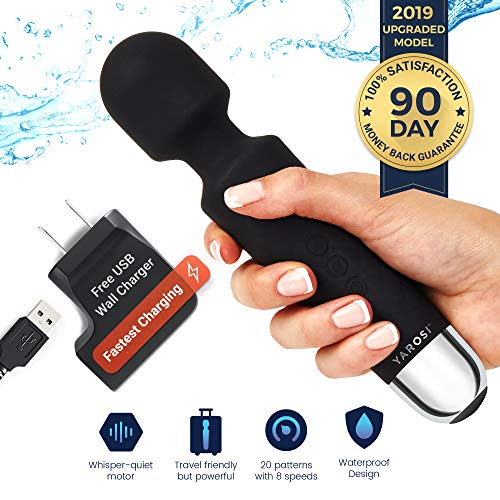 Personal Mini Wand Massager by Yarosi | Strongest Cordless Handheld Vibrating Power | Best Rated for Travel Gift | Magic Stress Away | Perfect Vibrate on Neck, Back, Foot, Hand Pains & Sports Injury from Yarosi
