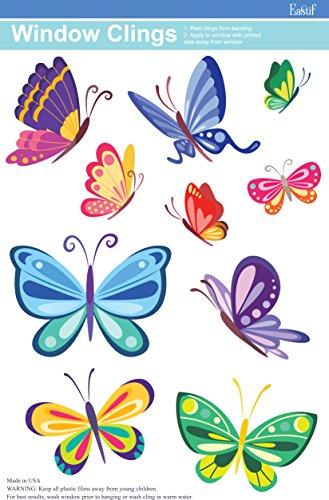 Eastif Butterfly Window Cling, 10 Butterflies