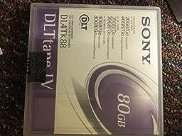 4PCS SONY 80GB DLT TAPE IV DL4TK88