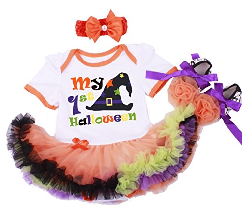 Newborn Infant Baby Girls Halloween Romper Outfits (M#3-6Months) (First Halloween Outfit)