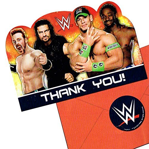 WWE Wrestling Thank You Notes w/ Envelopes (8ct)]()
