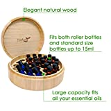 Essential-Oil-Box-Natural-Wood-Large-Round-Design-Holds-5ml-10ml-and-15ml-Bottle-Sizes-and-Roller-Bottles