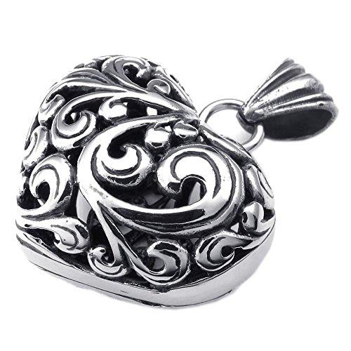 KONOV Womens Stainless Pendant Necklace