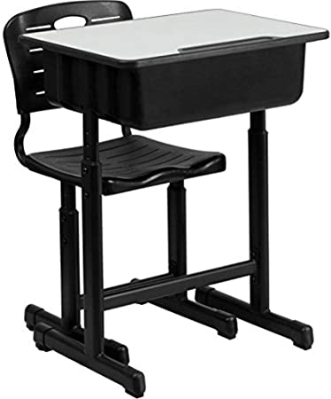 Black Ergonomic Cool Height Adjustable Studentss Study Table and Chair Set with Drawer for Students Boys Girls to Learn biliten Kids Study Desk and Chair Sets