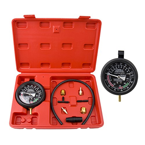 High Performance Fuel Pump and Vacuum SystemTester, Bang4buck Leak Carburetor Valve Pressure Test Gauge Diagnostic Kit for Cars, Trucks, Vans, Motorcyles, ATVs- 2 Year Warranty