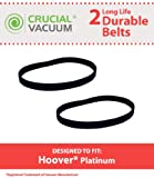 2 Hoover Platinum Poly V Serpentine Belts, Fits Hoover Platinum Vacuum Collection UH30010COM, UH30010CCA & UH30010, Belt has 6PH319 5PH319 written on it, Part # 562200001, Designed & Engineered by Crucial Vacuum