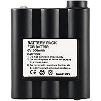 BATT5R AVP7 - Batería recargable de repuesto para 2 Midland BATT-5R AVP7GXT, color negro