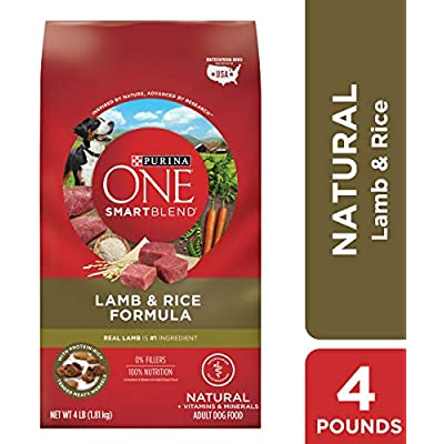 Purina ONE Natural Dry Dog Food, SmartBlend Lamb & Rice Formula - (4) 4 lb. Bags