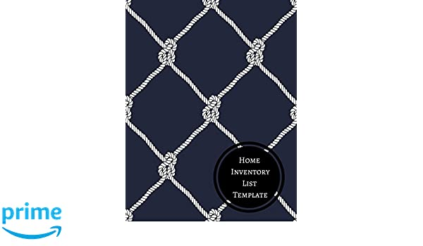 Home Inventory List Template Journals For All 9781521331255