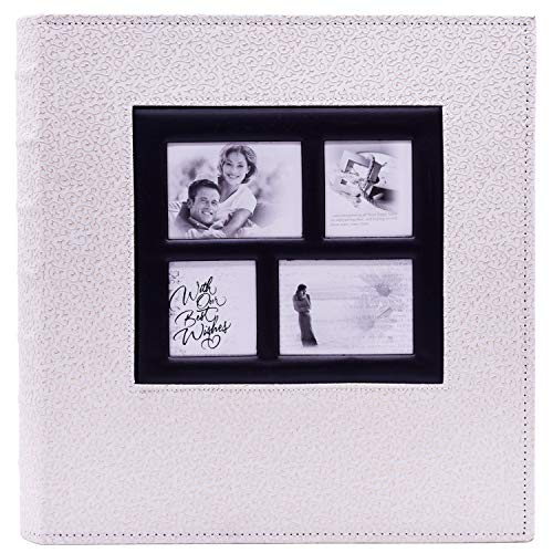 "Veilife 400 pocket holds Scrapbook Photo Album 4""×6"" Postbound Album with Window (Album Postbound)"