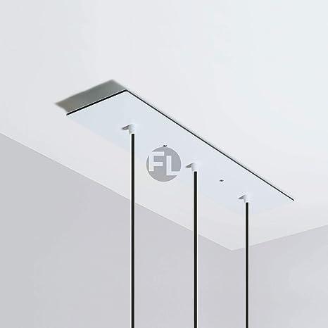 Lámpara de techo rectangular con 3 agujeros (60 x 12 x 0,3 ...