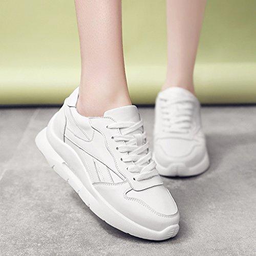 De Hwf Épais Blanc Printemps Lacets Chaussures 39 Femmes Femme Taille Sport Rose Couleur À Egng6faqw