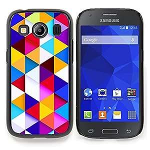 """Qstar Arte & diseño plástico duro Fundas Cover Cubre Hard Case Cover para Samsung Galaxy Ace Style LTE/ G357 (Patrón Polígono edificante Azul Limpio"""")"""