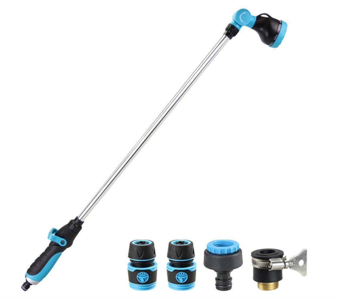 WLG Doccia giardinaggio irrigazione pistola ad acqua, autolavaggio doccia ugello irrigazione tubo giardinaggio multi-funzione ugello spruzzatore ad alta pressione,blu,Sezione