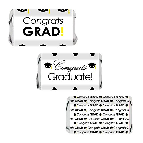 Amazon.com: Congrats Grad Cap Miniatures Candy Bar Wrapper Stickers on