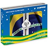 Copag Brazil Flag Bridge Size Jumbo Index Playing Cards (Multicolor)
