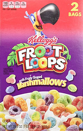 Kelloggs Toucan Sam (Kellogg's Froot Loops Cereal, Marshmallow, 29.6-ounce)