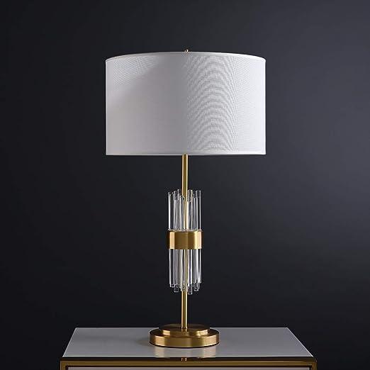 WYHYQY Tela Retro luz de Noche lámpara de Escritorio con Pantalla ...