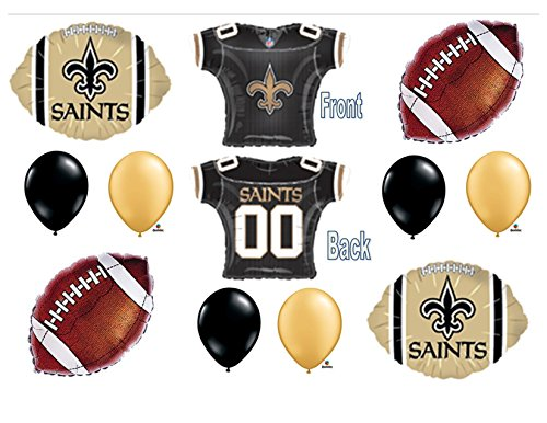 New Orleans Saints Jersey Helmet Birthday Party Balloons Decoration Supplies ()