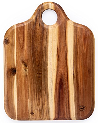 (Superior Trading Co. Acacia Wood Cutting Board Wooden Handle. 16 x 12 in.)