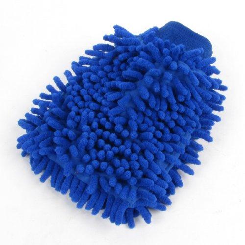 Voiture de véhicule de nettoyage Bleu doux en microfibre chenille Moufle Gant Brosse pour aspirateur