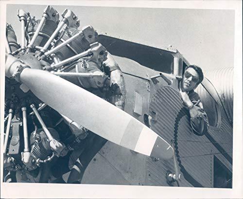 Tri Motor Aircraft - 1973 Press Photo Aircraft Plane Tri Motor Pilot Transport Vintage Propellor 8X10