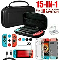 Funda para Nintendo Switch , Accessorios 15 en 1 de Protección Carcasa Anti-Choque/Arañazo Impermeable Compatible para…