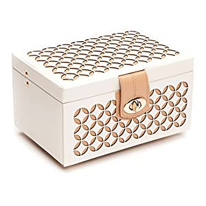 WOLF 301153 Chloe Small Jewelry Box, Cream