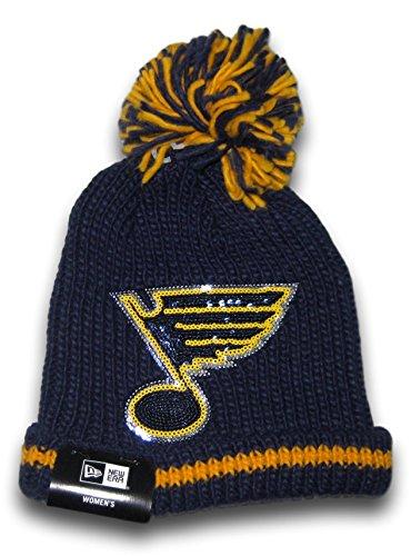Newera St. Louis Sequin Logo Cuffed Ball Top Beanie Hat Toque