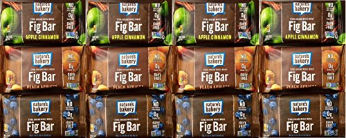 Nature's Bakery Whole Wheat Fig Bars 3- Flavor Variety Pack, 12 Bars