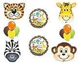 zebra shower head - Jungle Safari Welcome Baby Shower Balloon Decoration Kit by Anagram