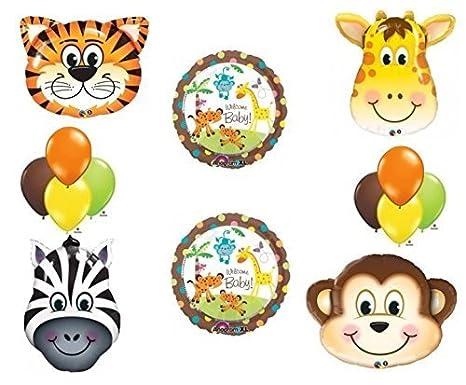 amazon com jungle safari welcome baby shower balloon decoration kit
