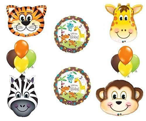 Jungle Safari Welcome Baby Shower Balloon Decoration Kit by Anagram -