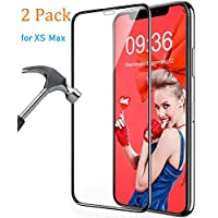 Screen Protector Compatible iPhone Xs Max[2 Pack], Hotpai Tempered Glass Full Glue Screen Cover Saver HD Clear Screen Film[9H Hardness, High Sensitivity, Case Friendly, Anti-Scratch] Only for XS Max